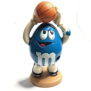 M&M Blue Candy Dispenser Basketball Rare 13.5""